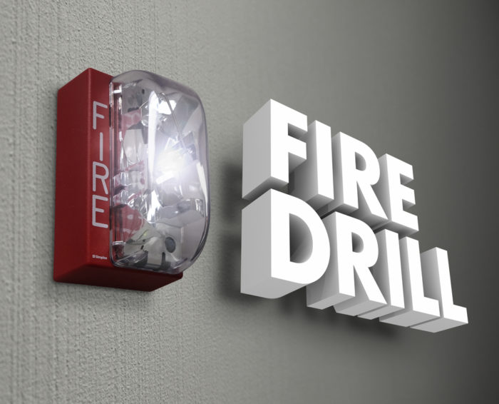 3D Letters that read Fire Drill