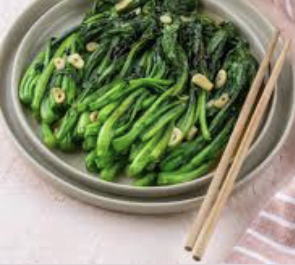 Green leafy vegetables and with long steams resembling broccoli