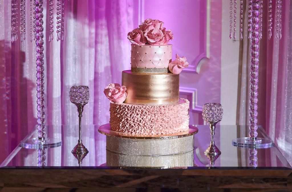 Elegant quinceanera cake