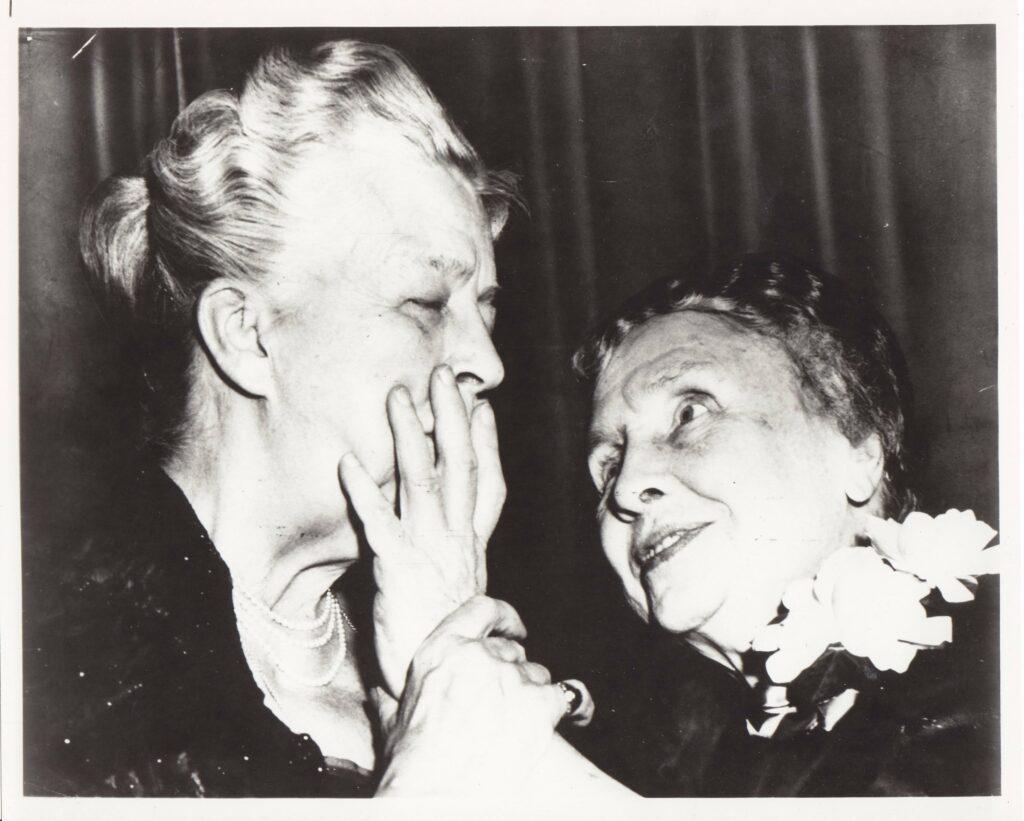 Helen Keller and Elenora Roosevelt