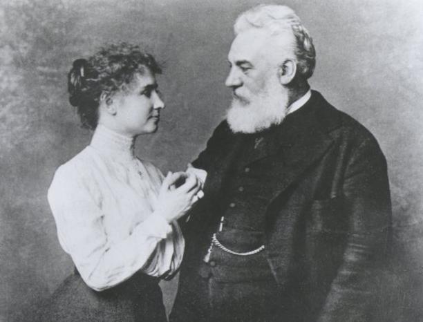 Helen Keller and Alexander Graham Bell